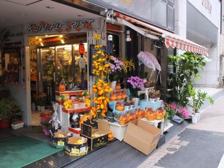ken.florist gets ready for halloween
